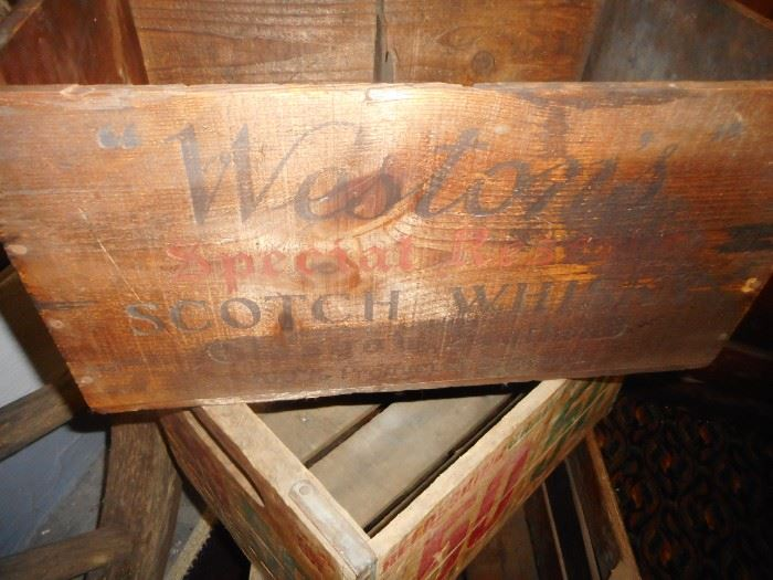 Vintage Scotch Crate