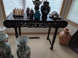 Carved alter table.  Purchased in Asia.