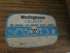 Vintage Westinghouse Micarta Laminate Roll Top Desk