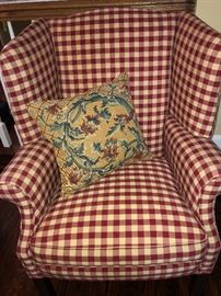 Upholstered Accent/Arm Chair, one of two.