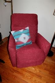 La-Z-boy upholstered recliner chair - also have matching reclining sofa. Like new!
