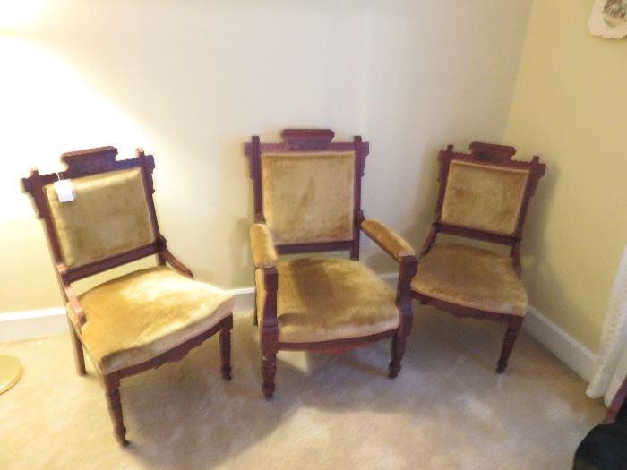 Living Room-East Lake Chairs with velvet upholstery