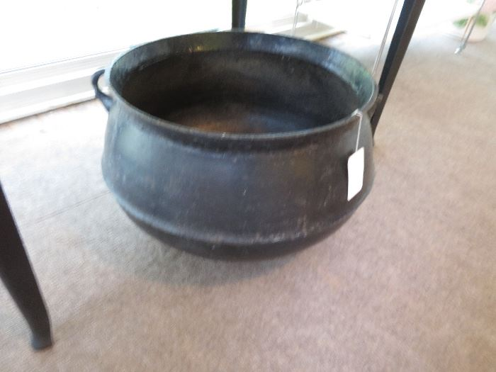 Enclosed Porch in Back of house-Cast Iron Pot