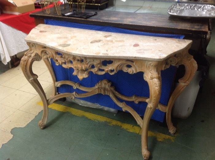 Wow nice marble top entry table