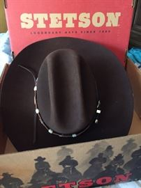 New, mens stetson hat in the box