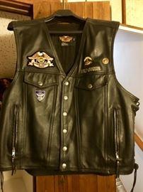 Front of Men's Harley Vest - XXL