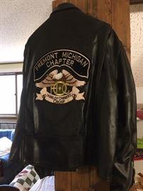 Back of Men's Harley Coat XXL