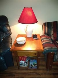 We have a pair of the tables and a pair of the lamps