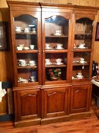 great looking china cabinet, maple