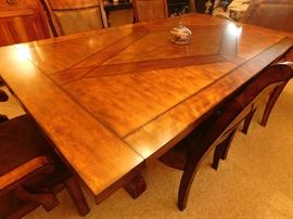 dining table for (6) with leaves