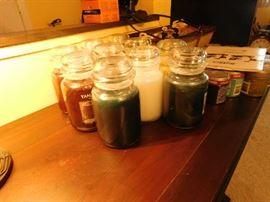 Unlit Yankee candles