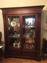 #16	Thomasville China Cabinet w/Beveled Glass 64Lx19.5Dx80H	 $475.00