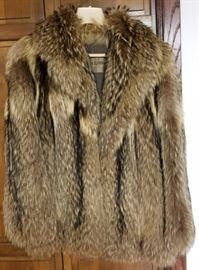 Ladies Clothing Fur Jacket Raccoon