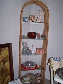 Ratan and Glass shelf