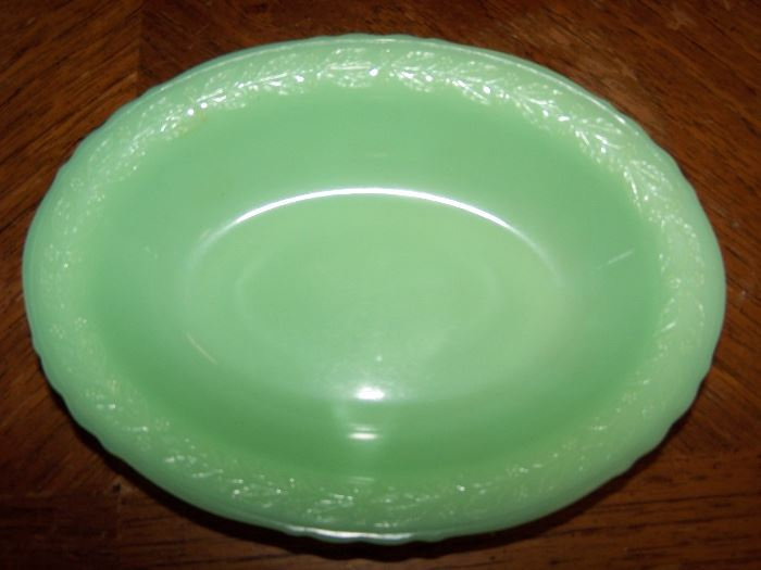 Jadeite Oval Bowl