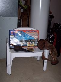 Shower Chair, Train set, Golf Bag