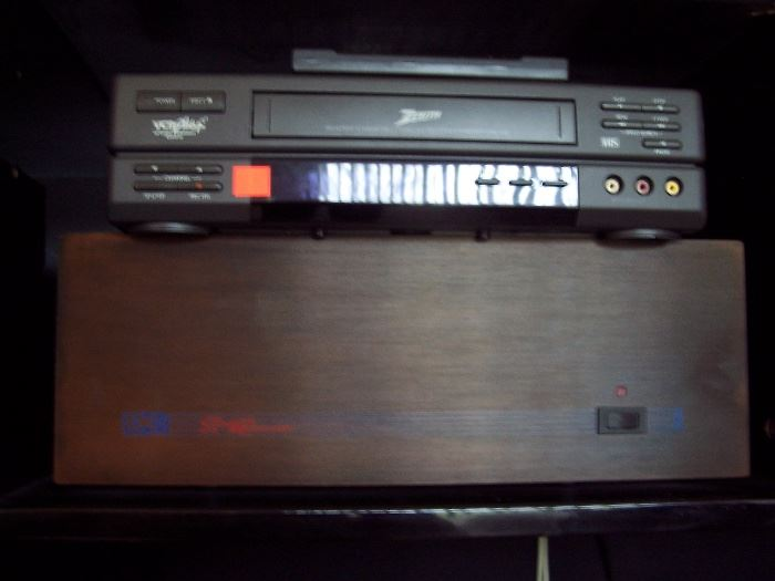 Zenith VCR Player, BK ST-140 Power Amplifier