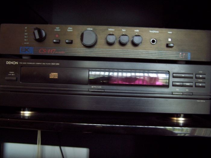 BK CS 117 Amplifier, Denon Disc Play DCD-1290