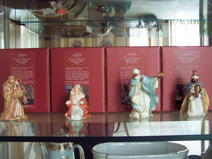 Lenox Little Town of Bethlehem Figurines (Joseph, Mary, Balthazar, Gaspar)