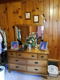 Twin beds match this dresser. All for sale