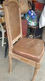 Pair of 18th Century French Chairs (fragile; decorative use only recommended).