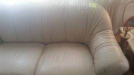 View 1 Custom Leather Sectional in Cream color
