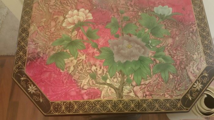 Oriental Design Chest with Matching Mirror