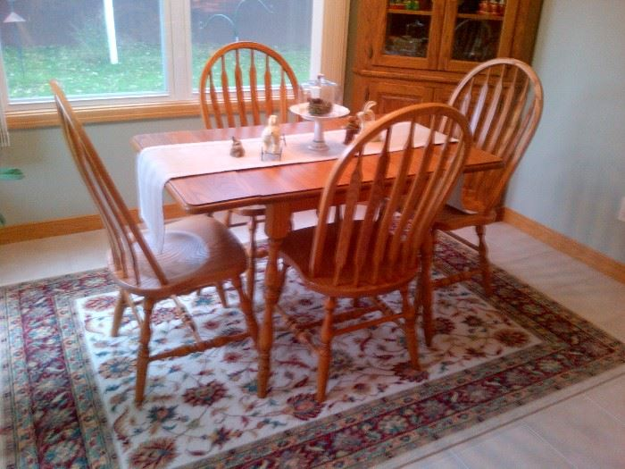Small Solid Wood Kitchen Table and 4 Chairs