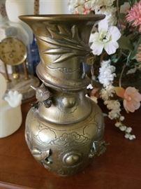 Asian Brass Vase