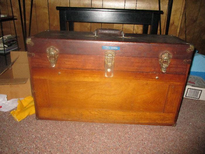 Antique tool trunk
