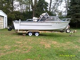 1972 21 ft Starcraft Mercruiser aluminum boat