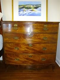 19th Century Bow Front Chest from Circa in Myers Park