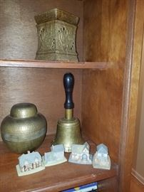 Brass Bell and Ginger Jar