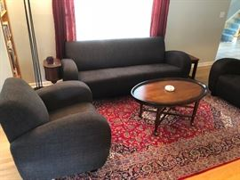 new sofa and 2 matching chairs coffee table