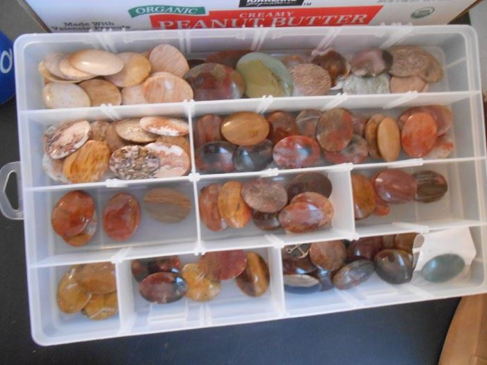 A stunning collection of oval shaped polished stones.  Add to your collection!