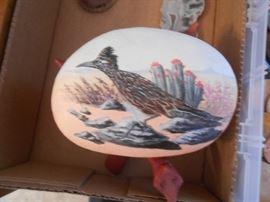 Hand-painted bird