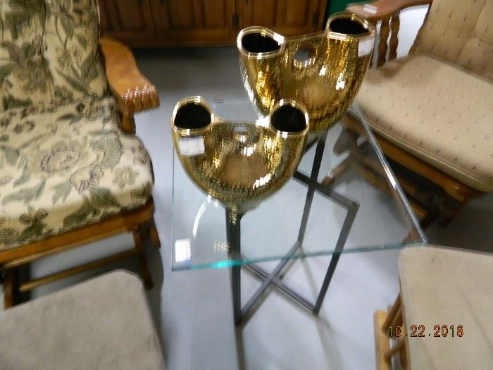 home decor/glass end table