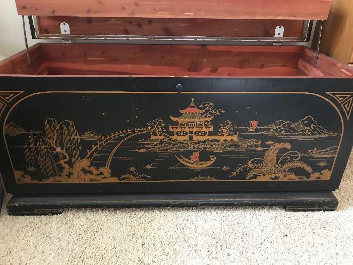 Lane Oriental Design Cedar Chest ( 42w x 2.5 tall)