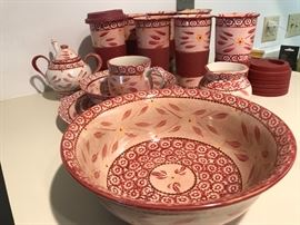 This set by Temmp-tations  keeps growing - super pretty and ovenproof! Service for 8