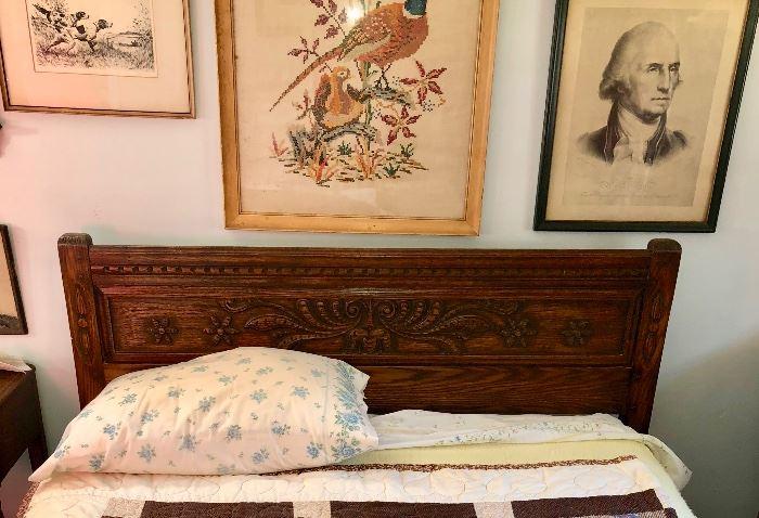 Carved Full size bedroom set