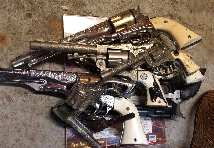 Vintage toy cap guns