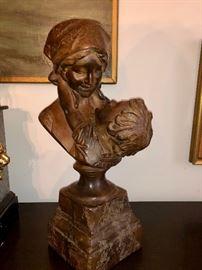 Mother & Child stone sculpture