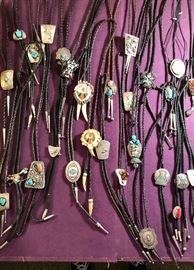 Bolo ties -All sterling & stone
