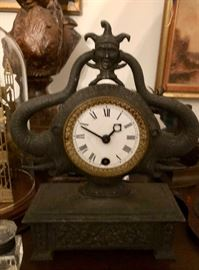 Antique clock with Jester