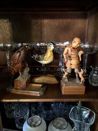 Anri carving & Eagle & Duck