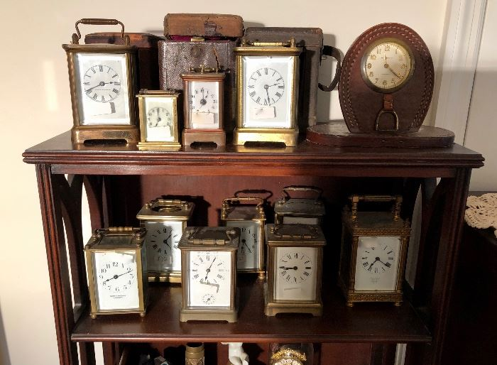 Collection of Carriage clocks