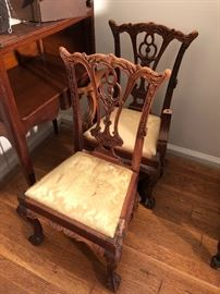 Charming pair of antique childs chairs