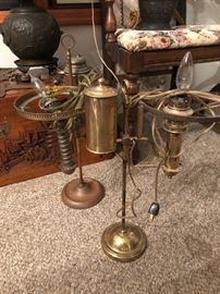 Old gas oil lamps