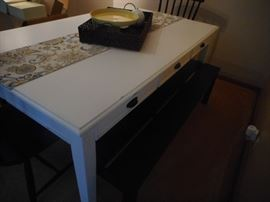 Side View of Table