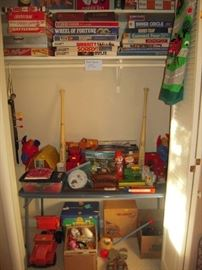 large selection old games & toys